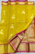 kanchi organza sarees with running blouse