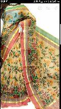 kota silk block printed sarees