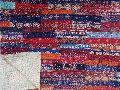 Handmade Kantha Brick Pattern Patchwork Quilt