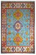 Hand- Knotted Wool Indian Kazak Rug