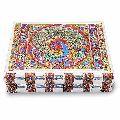 Little India Metal Colorful Meenakari Work Jewellery Box