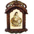 Little India Rajasthani Lady Portrait Wooden Jharokha Gift