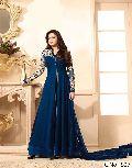 designer blue Georgette anarkali salwar suit