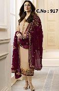 designer cream Straight cut Salwar suit