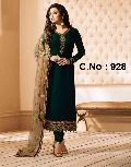 designer Embroidered Straight cut Salwar suit