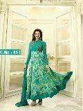 designer green Embroidered anarkali Salwar suit