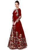 maroon wedding wear gown