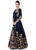 neavy blue wedding wear gown