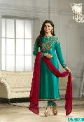 designer rama Embroidered Straight cut Salwar suit