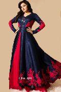 designer red Embroidery salwar suit