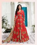 red indowestern Dress