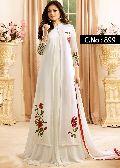 Designer White Embroidered Salwar Suit