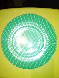 green colour paper plate