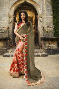 Georgette Heavy Embroidered Saree