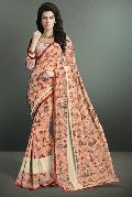 Light Pink Color Printed Party Wear Georgette Saree