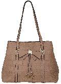 VABR139 Brown PU Tote Bags