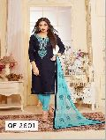 Unstitched Festive Glam Embroidered Churidar Suit