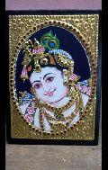 Tanjore Painting Face Krishna