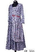 A Line Sanganeri, fancy long dress with tassels