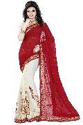 Georgette Half N Half Bollywood Sarees