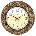 DESIGNER BRASS BROWNED WALL CLOCK