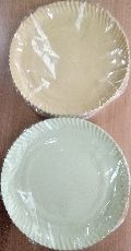 Poly coated disposable paper plates