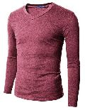 Mens V Neck Plain T-Shirts