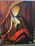 Lady Sun Abstract ModernAcrylic Painting