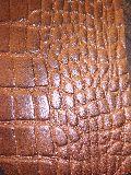 split printed leather
