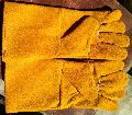 Yellow colour gloves