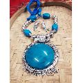 Blue Stone Handmade Necklace Set