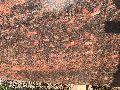 Red Papery Granite Slabs