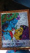 Radha Krishna Glass Painting
