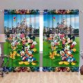 Mickey Mouse Family Print Curtains