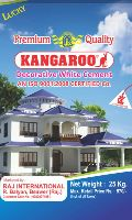 Kangaroo decorative white cement