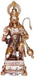 Black Metal Sitting Hanuman Ji