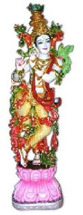Mould Marble Krishna Standing On Lotus