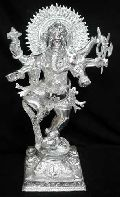 White Metal Dancing Ganesha