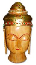 Wooden Buddha Head