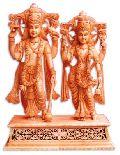 Wooden God Statue (wooden Standing Vishnu Laxmi Ji)