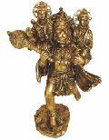BHS-03 Brass Hanuman Statue