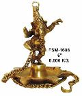 BD-02 Brass Ganesha Dancing Diya