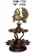 BD-04 Brass Deep Bird Diya