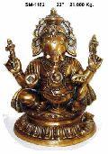 Brass Ganesh Statue- G-008