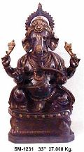 Brass Ganesh Statue- G-009