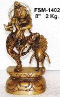 Brass Krishna Statues- Bk- 20
