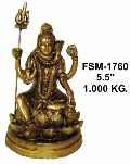BSS-02 Brass Shiva Statue
