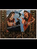 Rajasthani Royal Lady Mural Painting