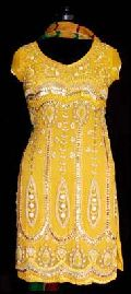 Yellow Georgette Salwar Kameez