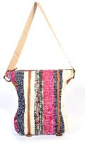 Handmade Multicolor Carpet Style Leather Touch Shoulder Bag